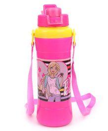 Barbie Water Bottle With Flip Open Cap Pink - 500 ml