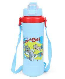 Tom & Jerry Water Bottle With Flip Open Cap Sky Blue - 500 ml