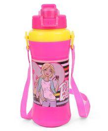 Barbie Water Bottle With Flip Open Cap Pink - 480 ml