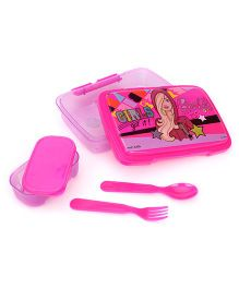 Barbie Lunch Box With Spoon And Fork - Pink