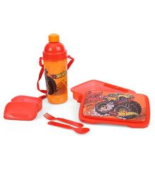 Hot Wheels Lunch Box With Sipper Bottle - Orange