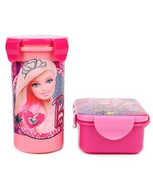 Barbie Lunch Box And Tumbler Set - Pink
