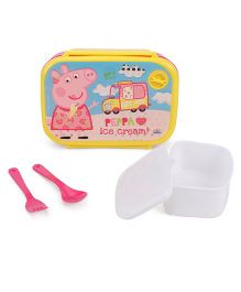 Peppa Pig Loves Ice Cream Lunch box - Yellow