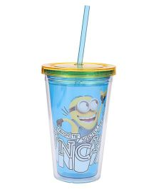 Minions Tumbler With Straw Blue - 473 ml