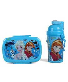 Disney Frozen Lunch Box and Water Bottle - Blue