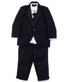 Robo Fry 4 Piece Party Suit With Tie - Black White