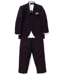Robo Fry 3 Piece Party Suit With Tie - White Black Purple