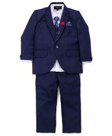 Robo Fry 4 Piece Party Wear Suit - Blue