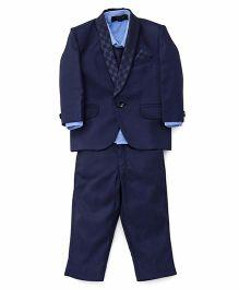 Robo Fry 4 Piece Party Suit With Tie - Dark Blue