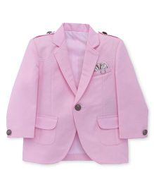 Robo Fry Full Sleeves Party Wear Blazer - Pink