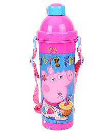 Peppa Pig Tutti Frutti Water Bottle Pink - 400 ml