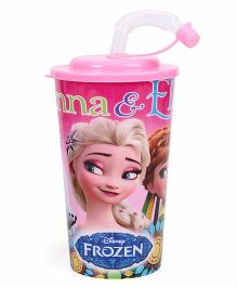 Disney Frozen Sipper With Straw Pink - 450 ml