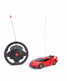 Classic Themes Super Car With Steering Wheel Remote Control - Red