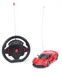 Classic Themes Car With Steering Wheel Remote Control - Red
