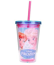 Disney Frozen Tumbler With Straw Pink - 473 ml