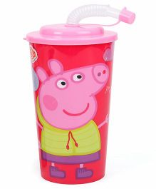 Peppa Pig Sipper With Straw Pink - 450 ml
