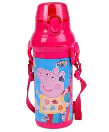 Peppa Pig Water Bottle Blue And Pink - 480 ml