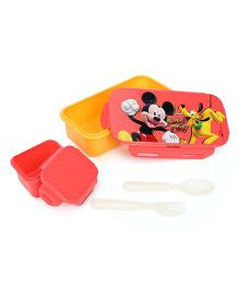 Disney Mickey Mouse & Friends Lunch Box - Red & Orange