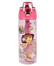 Dora Flip Open Water Bottle Pink - 600 ml