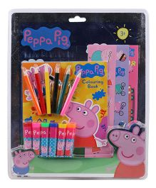 Peppa Pig Stationary Set Multicolor - 16 Pieces