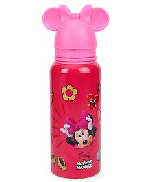 Disney Sipper Water Bottle Minnie Mouse Print - Pink