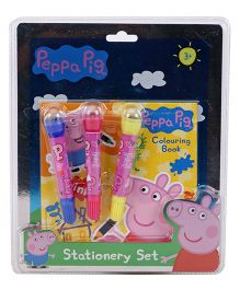 Peppa Pig Stationary Set Multicolor -  4 Pieces
