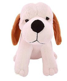 Tomafo Cute Puppy Soft Toy Brown And White - 18 Cm