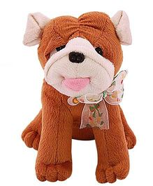 Tomafo Cute Puppy Soft Toy Brown - 18 Cm