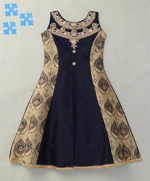 Enfance Elegant Party Wear Gown  - Navy blue