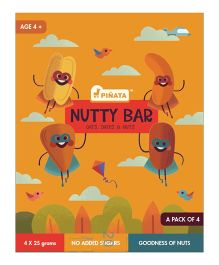 Pinata Super Snack Nutty Bar 25 grams each - Pack of 4