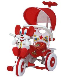 Amardeep Baby Tricycle With Push Handle - Red White