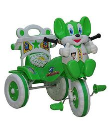 Amardeep Tricycle Animal Face - Green & White