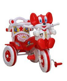 Amardeep Tricycle Animal Face - Red And White