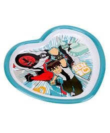 Ben 10 Heart Shaped Plate - Multicolour