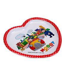 Noddy Heart Shaped Plate - Multicolour
