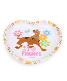 Scooby Doo Heart Shaped Plate - White