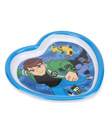 Ben 10 Ultimate Alien Heart Shaped Plate - Blue White