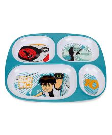 Ben 10 Four Section Plate - White Green