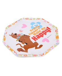 Scooby Doo Hexagon Plate - White