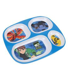 Ben 10 Ultimate Alien 4 Section Plate - Blue White