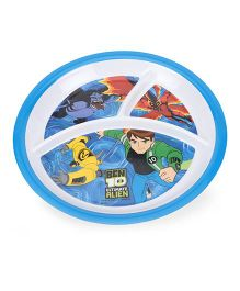 Ben 10 Ultimate Alien 3 Section Round Plate - Blue White