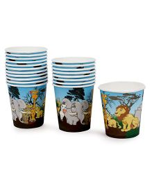 Karmallys Paper Cups Animal Print Pack of 20 - Multi Color