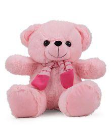 Funzoo Teddy Bear With Muffler Brown Pink - 30 cm