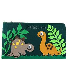 Kalacaree Dinosaur Patch Pencil Pouch - Green