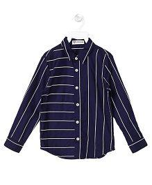 Cubmarks Formal Multi Stripe Shirt  - Navy Blue