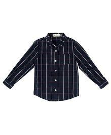 Cubmarks Stripe Formal Shirt  - Navy Blue