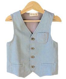 Cubmarks Illusion Pocket Line Waist Coats  - Grey