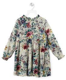 Cubmarks  Floral Printed Dress  - Blue