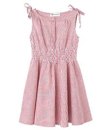 Cubmarks Verticle Striped Dress - Red