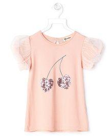 Cubmarks Peach Cherry Top - Peach